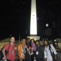 Guataca at Obelisque after cocert in Dakar