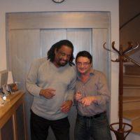 Chico with Jean Paul Govin of Vandoren Reeds